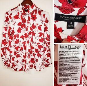 Banana Republic  size M floral printed  blouse